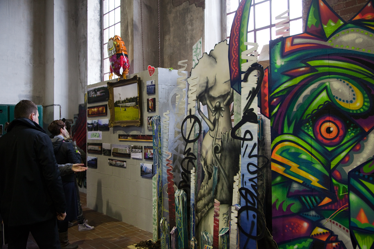 """Mit zahlreichen Events, Ausstellungen, Diskussionsveranstaltungen und Workshops mit zentralen Akteuren der Szene - so präsentiert sich von Mai bis Oktober 2010 das Streetart-Festival """"Concrete Playground""""."""