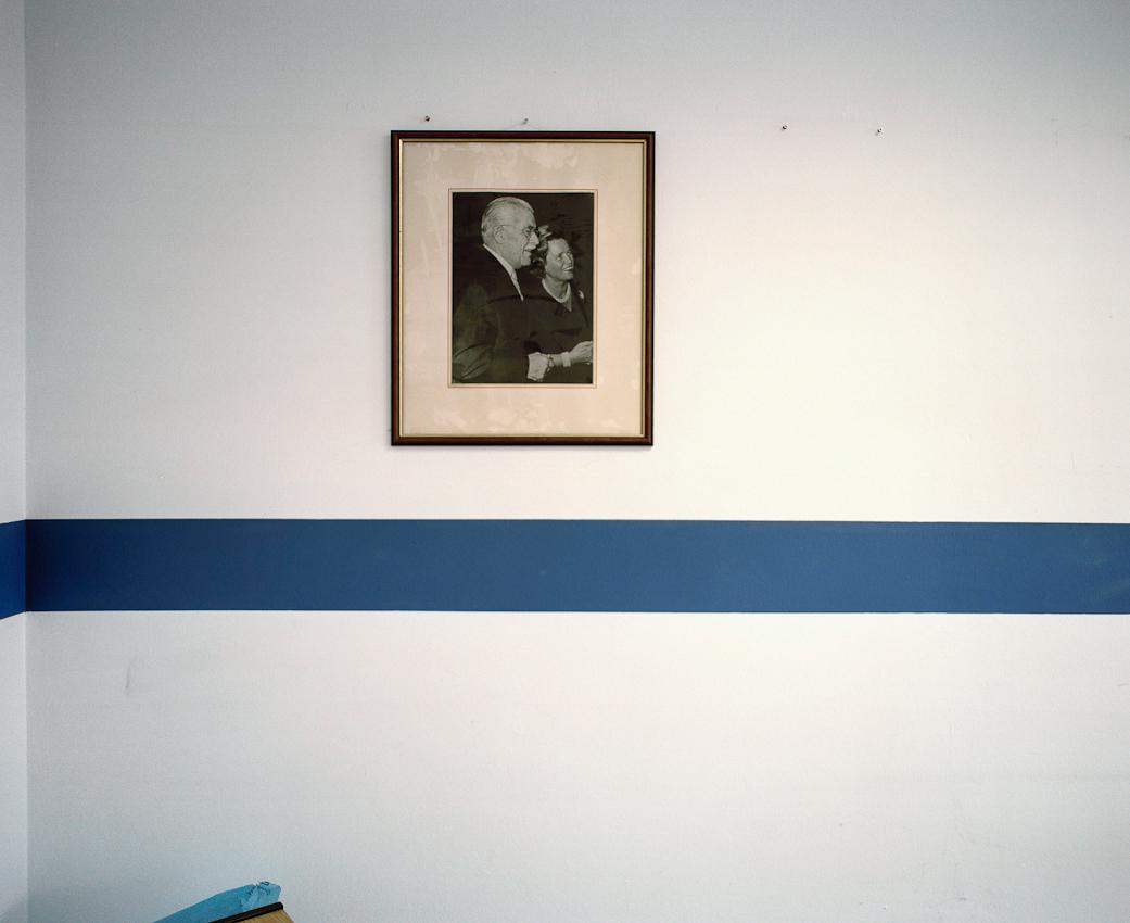 Portrait der Gründerfamilie, Grete und Gustav Schickedanz, im Eingangsbereich Tillystrasse (ehemals Einkauf/Fotostudios/Lager).