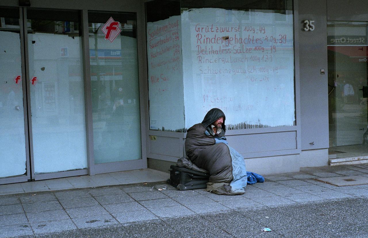 Obdachloser in der Herner Innesnstadt.