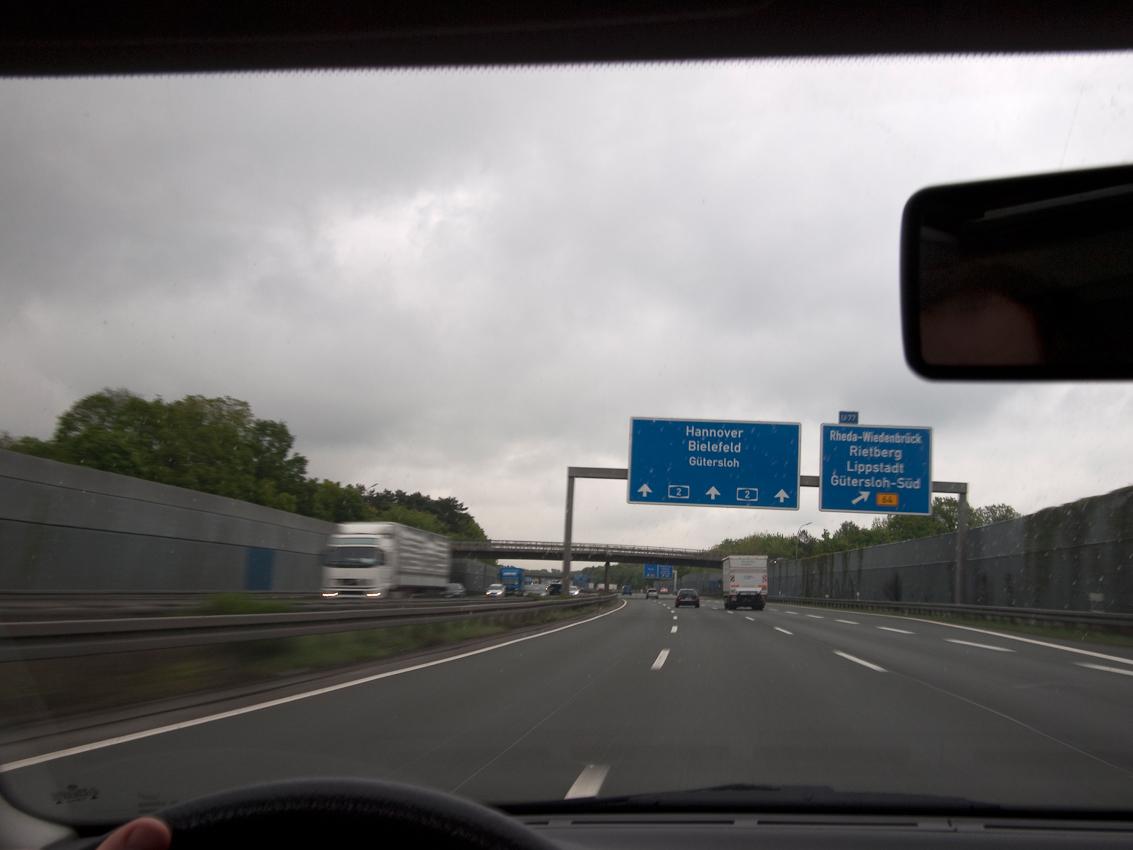 Bundesautobahn 2 (A2) kurz vor Gütersloh.