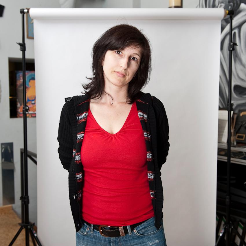 """Claudia (36), für einen Beratungs-Termin aus Kiel angereist: """"Tätowieren ist für mich immer Erinnerung. Für jedes wichtige Erlebnis lasse ich mir ein Tattoo stechen."""""""