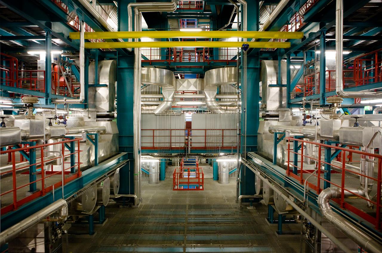 Das Innere des MHKW.